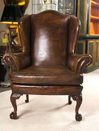 Wing Chairs Design Ideas Leather Wingback Chair Home Office Furniture Desk