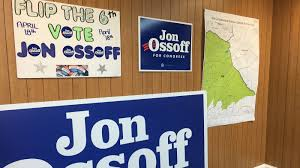 democrat jon ossoff is looking to send a message to president