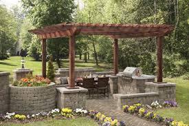 Flagstone Patio With Pergola Garden Design Ideas U2013 Build Pergola Yourself U2013 Fresh Design Pedia