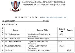 assignments of 1st semester applied psychology gcuf