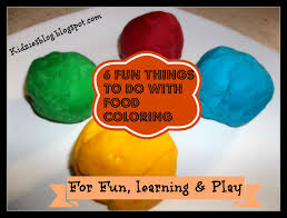kidzies 6 fun things to do with food coloring