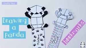 drawing an origami panda diy bookmarks ideas arts and crafts