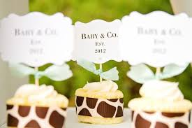 giraffe baby shower ideas giraffe baby shower ideas for dessert cup cakes baby shower