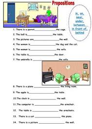 prepositions of place esl worksheets of the day pinterest