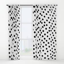 Polka Dot Curtains Warped Black Polka Dot Window Curtains By Simplicity Of Live