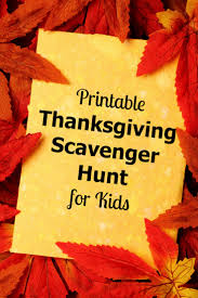 printable thanksgiving scavenger hunt for thanksgiving and
