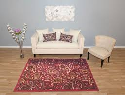 Rubber Backed Bathroom Rugs by Amazon Com New Multi Paisley Design Rubber Backed Non Slip Area