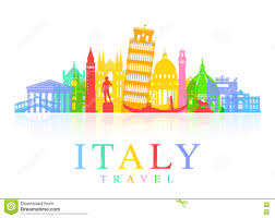 Map Italy Silhouettes Italian Cities by Italian Clipart Italian Landmarks Clip Art Pencil And In Color