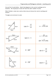 ks4 trigonometry or pythagoras teachit maths