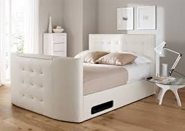 Diamante Bedroom Set White Leather Bed Frame Image Is Loading Hotsales Pu Leather