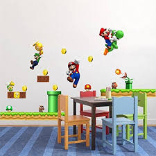 mario bros bedroom mario bros bedroom super mario bros wall sticker boy bedroom wall art large size