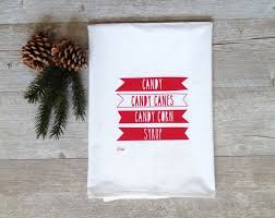 Cyber Monday Home Decor Christmas Tea Towel Elf Candy Canes Holiday Kitchen Flour