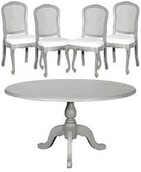 painted vintage dining table and chairs set dining set update