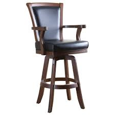 bar stools wood and leather wooden bar stool with leather back and medium arms upholstered
