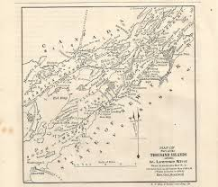 St Lawrence River Map 1878 Map Thousand Islands St Lawrence River Ontario Canada New