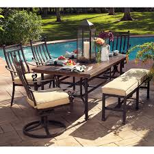 metal patio furniture set meridian 6 piece patio dining set