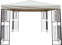 Metal Gazebo 8 X 10 by Home Loft Concepts Ferrara 10 Ft W X 10 Ft D Steel Pop Up Gazebo