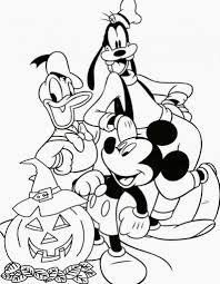free printable disney halloween coloring pages in halloween