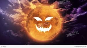 pumpkin face large halloween moon stock animation 8928923