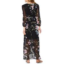 maxi dress with sleeves sleeve floral maxi dress jcpenney