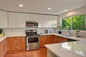FlatPanel Kitchen Cabinet Design  Painting FlatPanel Kitchen - Latest kitchen cabinet design