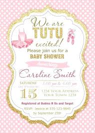 ballerina baby shower invitations tutu baby shower invitation ballerina baby shower invitations