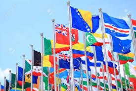 Commonwealth Flags The National Flags Is Flying Around The World Stock Photo Picture