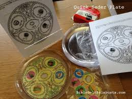 seder plate craft for usable seder plate craft