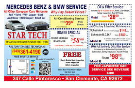 mercedes service offers special offers tech motors bmw and mercedes repair and