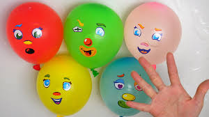 five water colour balloons learn colours compilation wet balloon