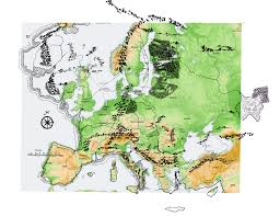 Modern Europe Map by Erimaassa Middle Earth Cartography Part 4