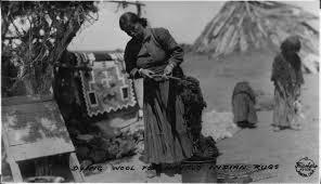 Wool Indian Rugs File Dyeing Wool For Navajo Indian Rugs Southern Navajo Agency