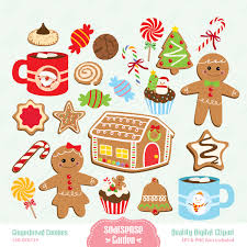 gingerbread cookies digital clipart by ssgarden on etsy clip art