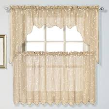 Kohls Kitchen Curtains by Curtain Co Savannah Swag Tier Kitchen Window Curtains