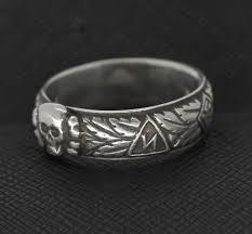 ss wedding ring ss totenkopf ring silver skull s ring antiq24