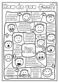 feelings and emotions esl game u2013 printable english coin flick