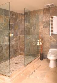Bathroom With Open Shower Open Shower Without Door Asian Bathroom Seattle By