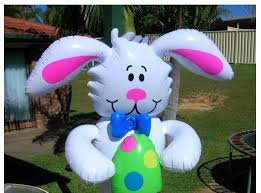Easter Inflatable Lawn Decorations by 160 Cm Cartoon Inflatable Big White Rabbit Outdoor Toys For Kids