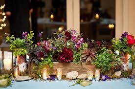 wood centerpieces wildflowers in wooden box centerpieces budget brides guide a