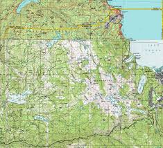 Usgs Quad Maps Desolation Wilderness Topo Backpacking Map