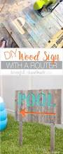 diy wood sign with a router a houseful of handmade
