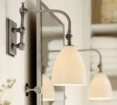 Single Sconce Bathroom Lighting Covington Articulating Single Sconce Pottery Barn