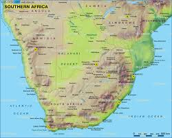 Countries Map Map Of Southern Africa Several Countries Map In The Atlas Of