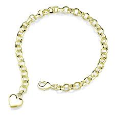 inspired silver plated charm bracelet yellow