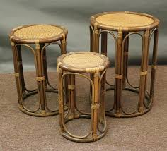 vintage rattan nesting tables rattan end tables outdoor wicker table dining furniture sale coffee