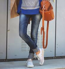 Skinny Jeans And Converse Cuffed Jeans Or How To Look Effortlessly Chic U2013 The Fashion Tag Blog
