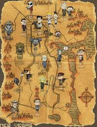 Fallout 1 Map by Fallout New Vegas Map Is Not To Scale But Fit For A Poster