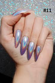 holo xl extra long stiletto almond nails color options set