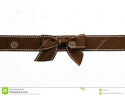 brown ribbon fancy brown ribbon gift bow stock image image 23907381