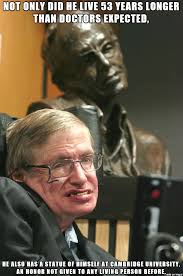 the hawking statue at cambridge is kinda special meme on imgur